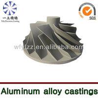 Aluminium alloy compressor wheel used for steam locomotive
