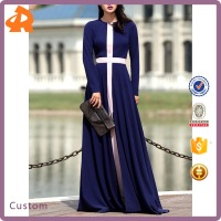 Factory Cheap Price Indian Dresses Elegant Swing Color block Maxi Dress Designs For Ladies