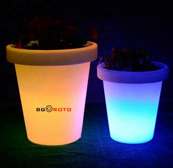 Lighted Outdoor Flower Pots/LED Flower Pot/Large Garden Pots LED Solar Powered Flower & Lighted Outdoor Flower Pots/led Flower Pot/large Garden Pots Led ...