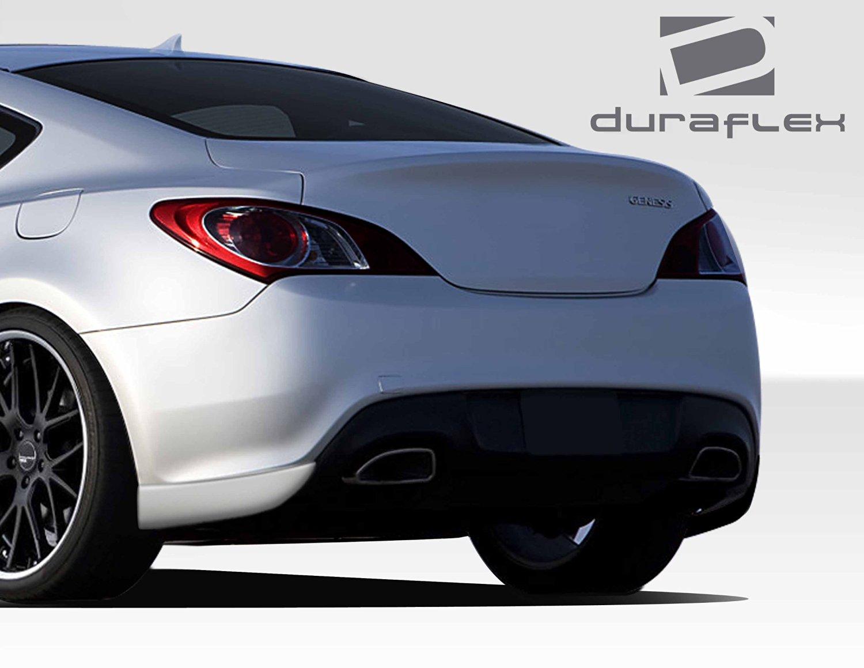 2010-2015 Hyundai Genesis 2DR Duraflex RS-1 Rear Add On Bumper Extensions - 2 Piece