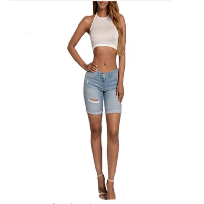 96adfa43ebaf Venta al por mayor shorts de mezclilla para mujer-Compre online los ...