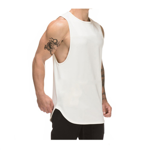 Custom make bulk tank top gym stringer singlet top tank printing and embroidery