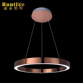 Modern copper polishing lamp shade acrylic lamp shade led ring modern copper polishing lamp shade acrylic lamp shade led ring chandelier aloadofball Choice Image