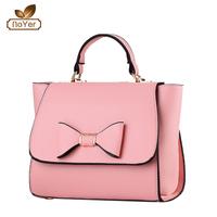 2016 UK Market Popular Style Ladies PU bow china wholesale handbags free shipping