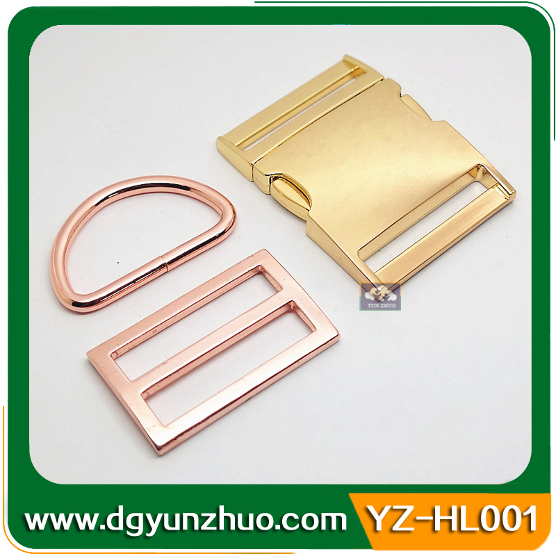 Wholesale 50mm belt buckle parts for bag accessories, metal strap bag clip buckle