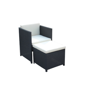 Relax Garden Outdoor Rattan Chairs With Ottoman