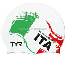 Mode italie pays logo silicone bonnet de bain avec de haute qualité