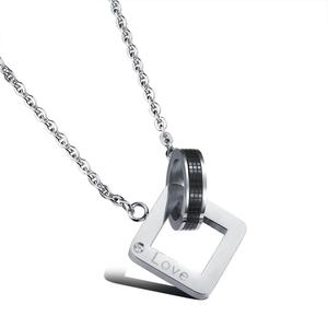 love fashion 316L steel charm china supplier new couple pendant