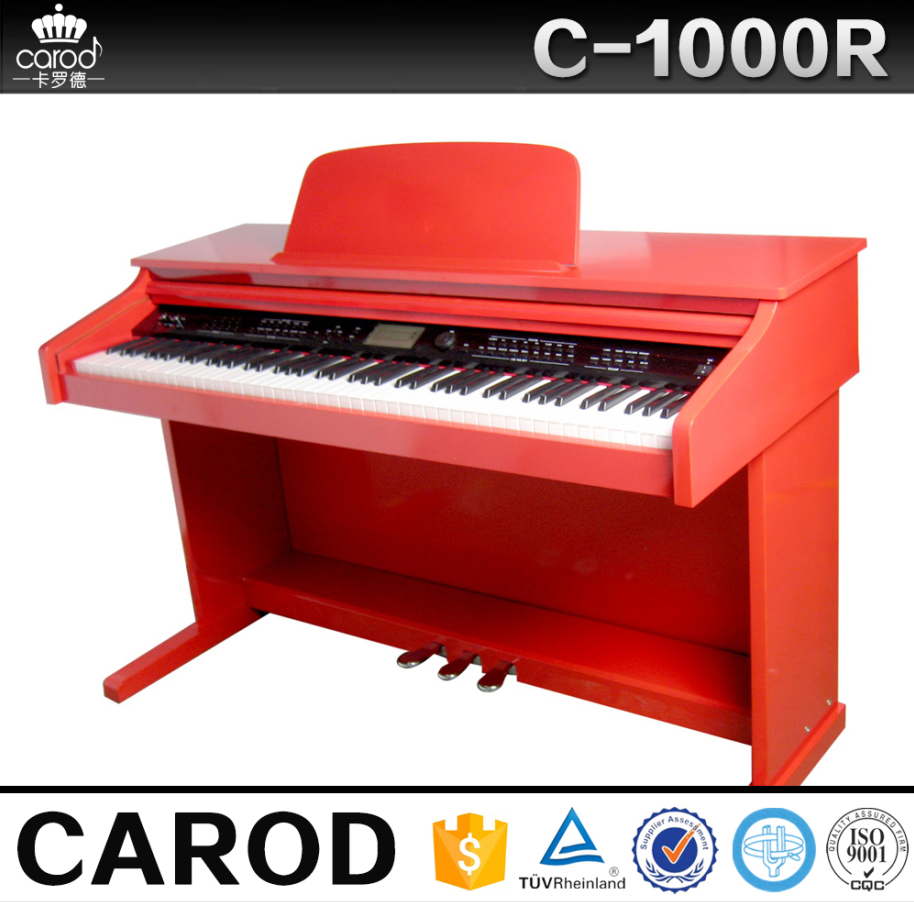 hot sale piano flexible keyboard red digital piano