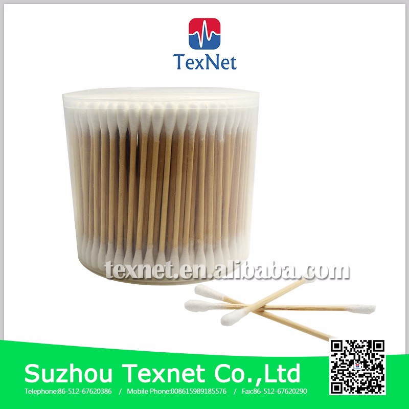 Colored Disposable  Eco Friendly Medical  Bamboo Cotton Swab