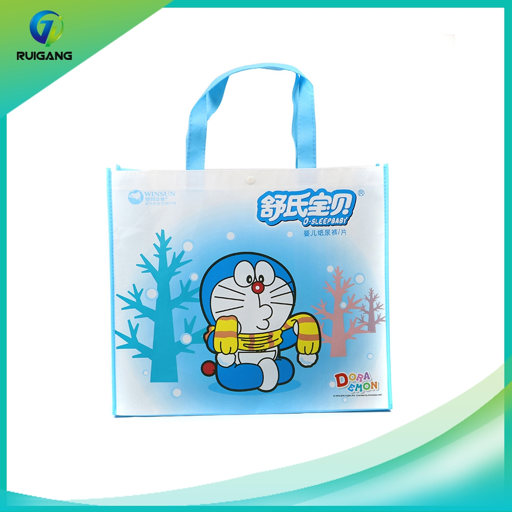Cheap printed image recyclable pp laminated non woven shopping bag