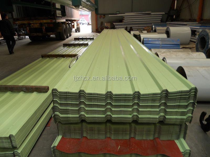 vente chaude galvanis ondul e enduit de couleur m tal de t le de toiture acier id de produit. Black Bedroom Furniture Sets. Home Design Ideas