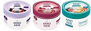 Arko Nem Face/Hand/Body Cream, Yogurt/Blackberry/Pomegranate/Red Grape/Fig/Grapefruit, 10.14 Ounce
