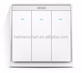 Heiman New Product Iot Smart Home Zigbee One Gang Two Lighting Switch 2 Light Small Dimmer