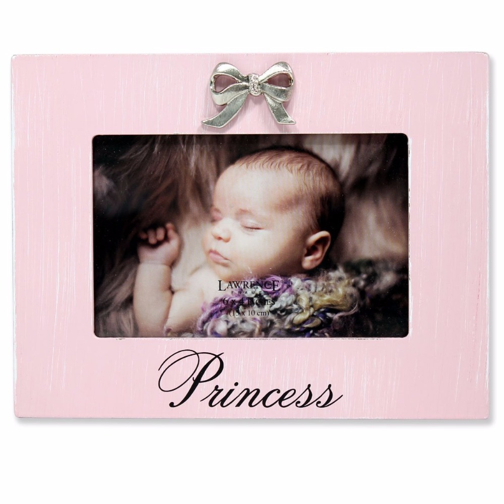 Newborn Baby Girl Souvenir Nursery Decor Wooden Picture Photo Frame with glass front 4x6