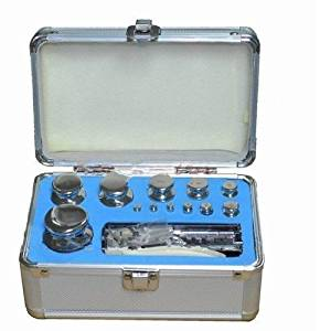 Gowe M1 Class 1mg-1000g Stainless Steel Calibration Weights Kit Set, Digital Scale Balance Weights w Certificate, 25pcs Inside