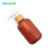 bamboo lotion pump bottle amber pet bottle 60ml 120ml