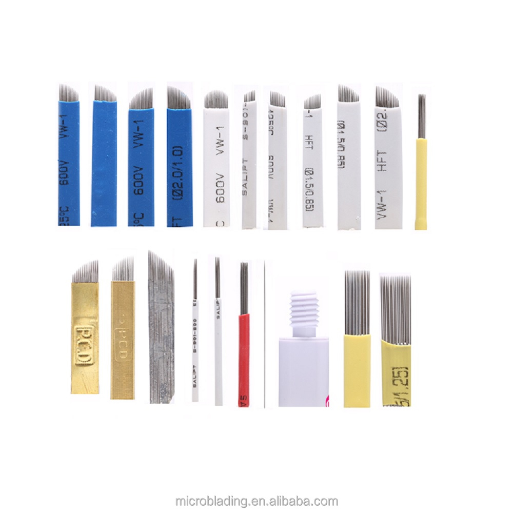 Eyebrow Tattoo Microblading Supplier Eo Gas Sterilized Tip/Eyebrow Tattoo Needle For Permanent Makeup