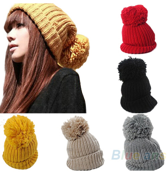 Women s Winter Warm Cuffed Beanie Crochet Knitting Wool Hat - Buy ... 4bd86475a37