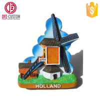 Holland Windmill resin souvenir fridge magnet Tourist souvenir fridge magnet