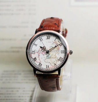 Sale Map Watch,Sailing Diary,Vintage Style Leather Watch - Buy Map  Watch,World Map Watch,Leather Watch Product on Alibaba.com