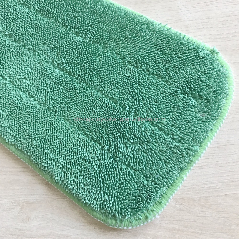 Hot sales 100% poly large size mop replaced washable head with low twist piles cheap price