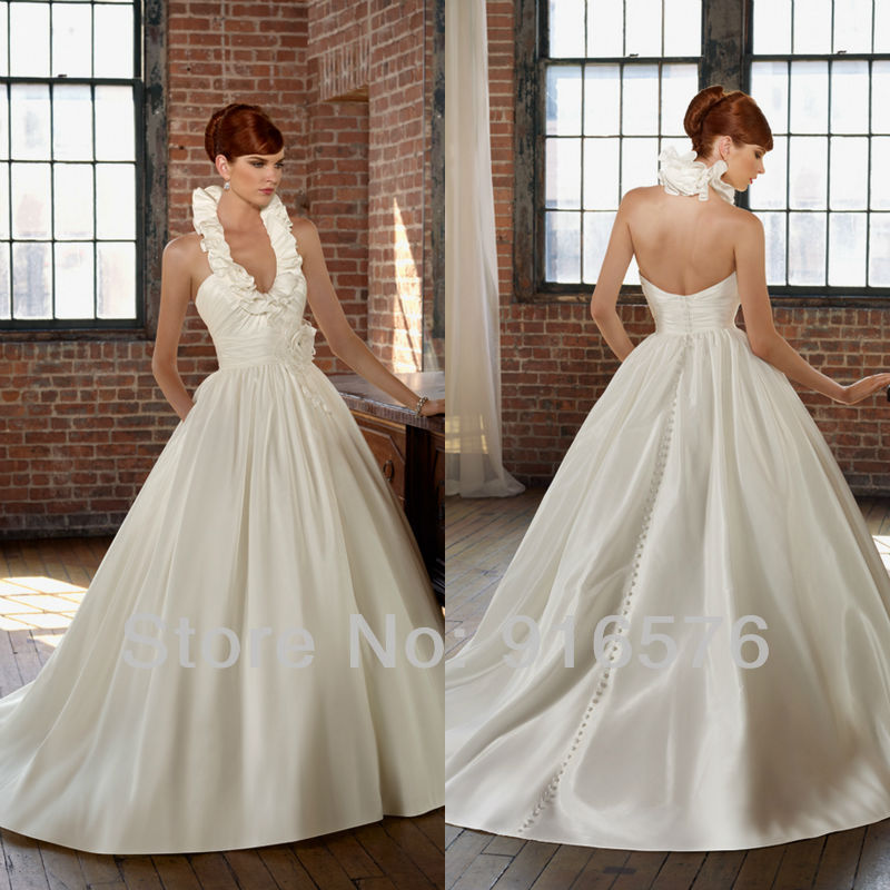 Plus Size Wedding Gown Patterns: Easy-Dress-Patterns-Discount-Wedding-Gowns-Halter-Style