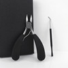 Set 2 stainless steel large toenail clippers for thick or ingrown nail clippers with Lifter for thick toenails