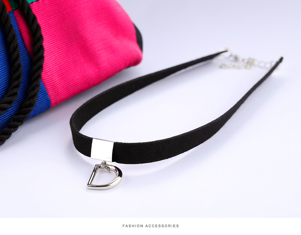 2017 Fashion Jewelry Black Choker Necklace Leather Chocker Necklace For Women