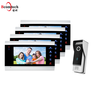 Bcomtech High Quality Intercom Doorbell Phone 4 wire Villa Door Bell Camera Homemade Video Door Intercom