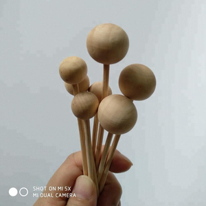 WoodBall Wood Bead with Rattan Sticks