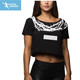 Ladies stylish printed gym crop top custom
