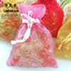 small ORGANZA BAGS for jewelry, cosmetics, candles and gift items with Satin ribbon ties
