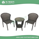 2016 new design outdoor rattan garden set coffee shop chairs with round marble table