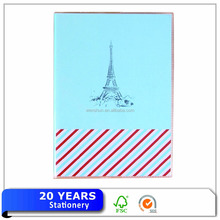 London Stil Digitale Leinen PVC Notebook