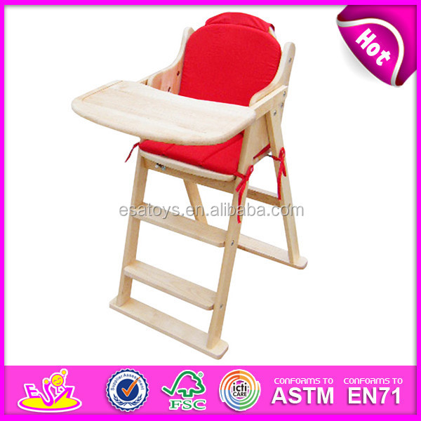 high quality restaurant baby high chair for kids wooden toy high