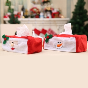 2 PCS Christmas Napkin Box Christmas Holiday Supplies Decorations