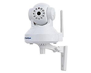 "SunEyes SP-TM01EWP 1/4"" CMOS 1.0MP IP Camera w/ 10-IR-LED / Wi-Fi / IR-CUT / TF - White"