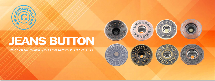 High quality vintage jeans shank buttons and rivet denim for