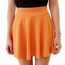 2016 Fashion Fall Winter Women High Waist Pleated Skirt Solid Color Women Skirt Black Red Tennis Skater Skirt For Women