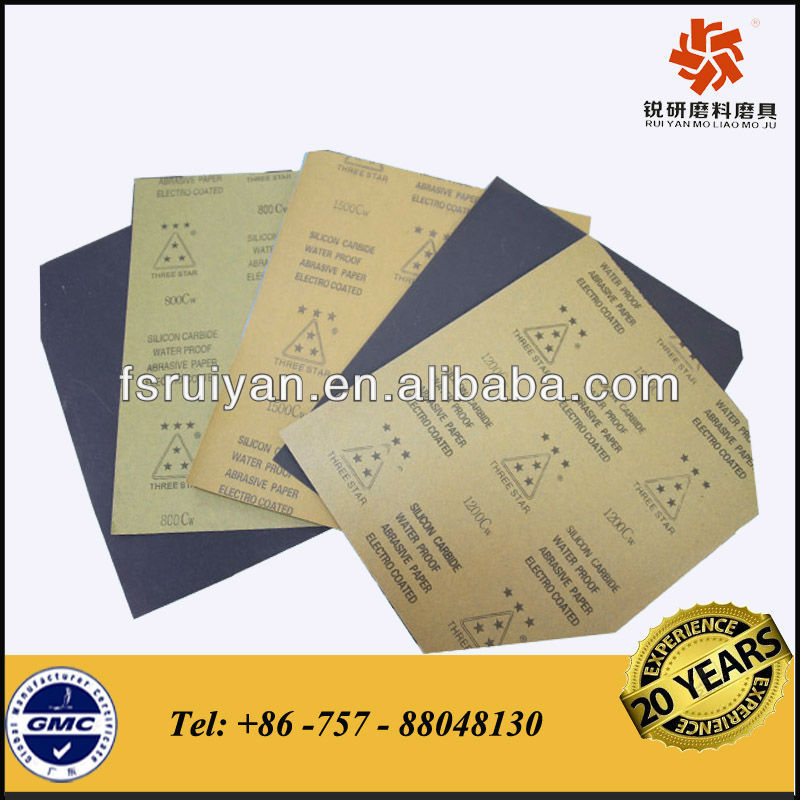 "9""x11"" waterproof abrasive paper for car,wood, metal surface etc"