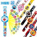 1pc 23cm Multi Style Cartoon Projection 3D 20 Projection Doraemon Toy Electronic Watch 24 Images Avengers