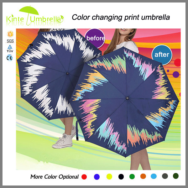 High quality best selling long handle colour changing umbrella