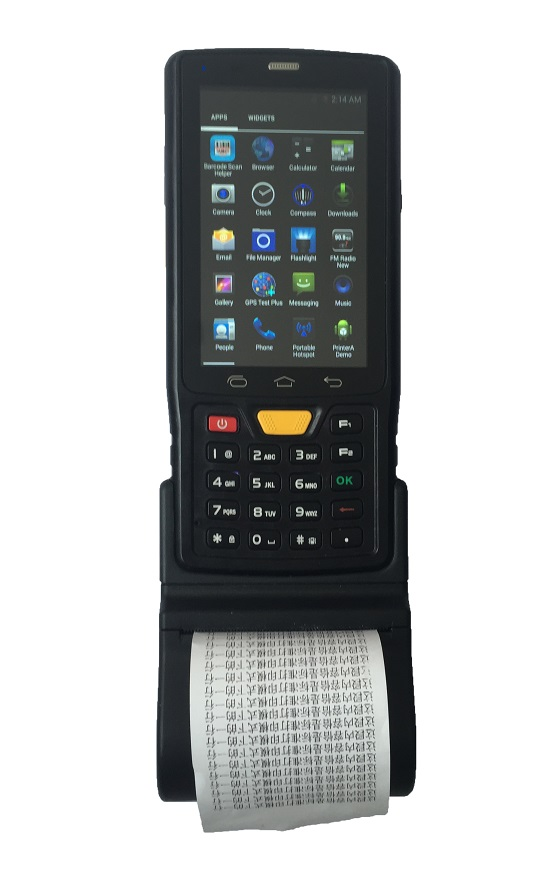 GPS PDA cheap classic 58mm thermal printer mobile for warehouse management Android Barcode scanner