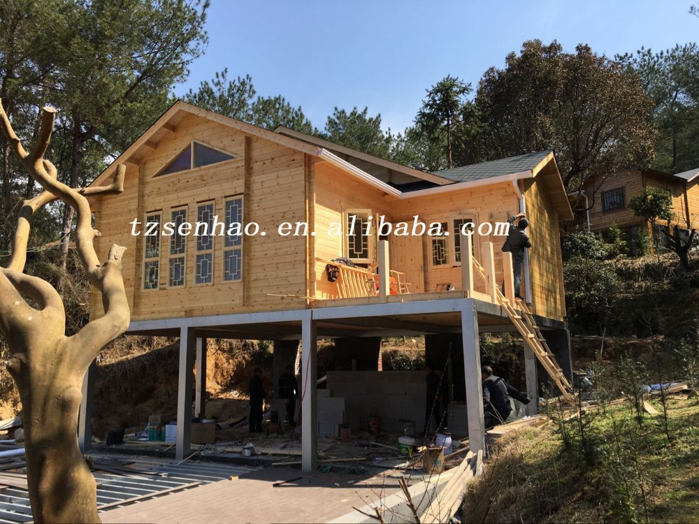 Senhao prefab wooden house india price/Wood Villa sale/Container House manufacture
