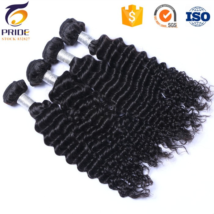 Wholesale price Raw Indian Curly Virgin Hair Bundles Lot Indian Deep Wave Curly Weave