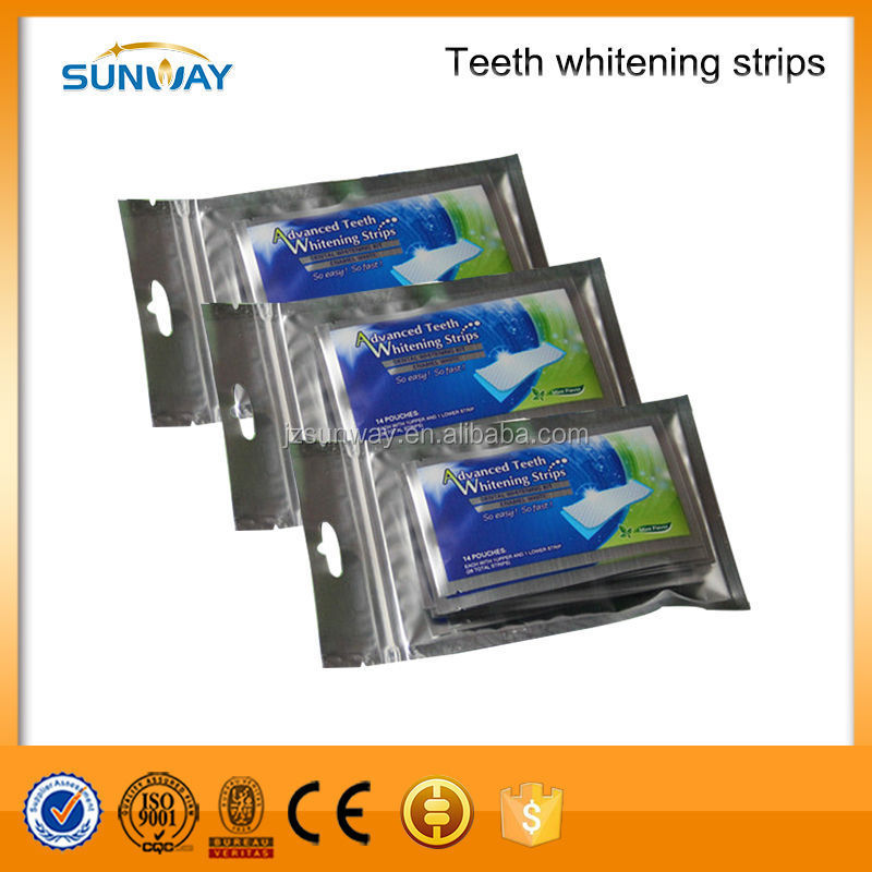 Private label advanced non peroxide home teeth whitening strips oem