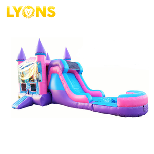 kids funny game customize size outdoor party inflatable bouncy castle combo with slide for sale