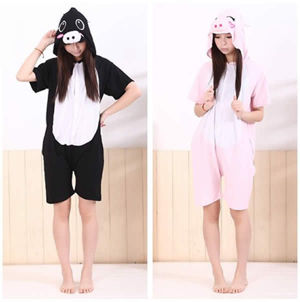 Buy Shineye Adult Short Sleeve Cotton Cartoon Pig Hooded Pajamas Cosplay  Animal Onesies Sleepwear Summer Homewear in Cheap Price on Alibaba.com ecce052d3