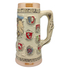 German Collectible Engraved Ceramic Beer Stein